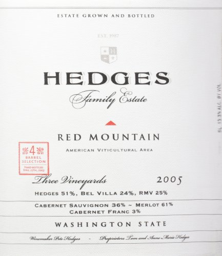2005 Hedges Family Estate Red Mountain Red Blend Limited Edition Large Format 5 L
