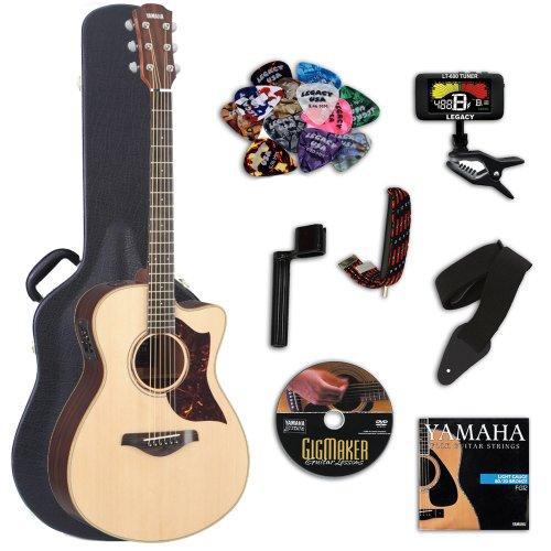 Yamaha Ac3Rhc Acoustic-Electric Guitar With Yamaha Hard Case & Legacy Kit (Tuner, Picks, Dvd & More)