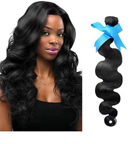 Rechoo Brazilian Virgin Remy Human Hair Extension Weave 60g - Natural Black,22