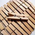 """Sturdy Small Craft Clothespins 1 3/4"""" - 72/pkg produced by Darice"""
