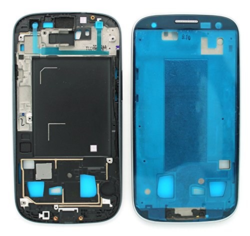 New A Side White/Black/Blue/Red Back Front Lcd Plate Housing Mid Frame Bezel Chasis Replacement Part For Samsung Galaxy S3 Iii Gt-I9300 I9305 I747/At&T T999/T-Mobile Sch-I535/Verizon Sph-L710/Sprint Sch-R530/Us Cellular, Epacket Shipping (I9300 Black)