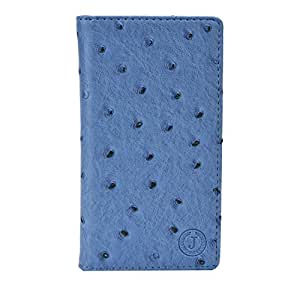 Jo Jo Croc Series Cover Leather Pouch Flip Case For Samsung Galaxy Note 2 (II) N7100 Light Blue
