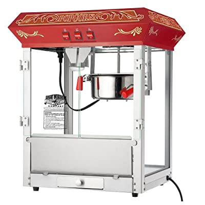 Great Northern Popcorn Old Time Popcorn Popper Machine Countertop, 8-Ounce, Red from Great Northern Popcorn