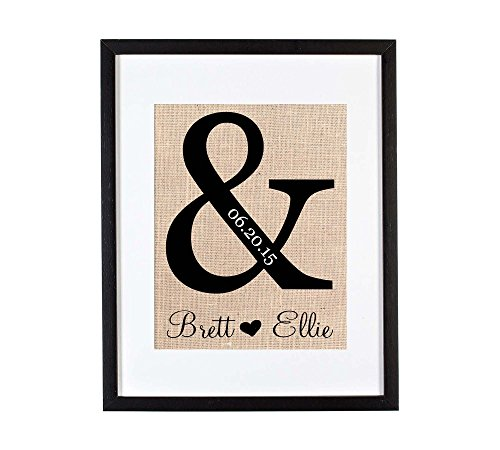 Unique Wedding Gifts, Ampersand Gifts, Personalized Wedding Gifts, Wedding Gifts for the Couple, Burlap Wedding Decorations, Wedding Signage