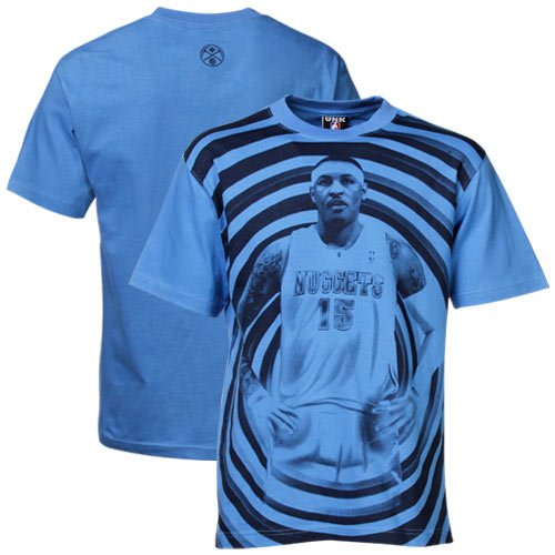 NBA Denver Nuggets #15 Carmelo Anthony Powder Blue Hypno Face Player T-shirt