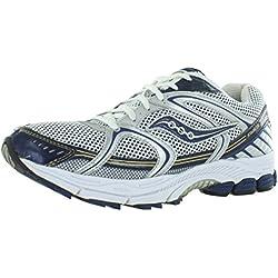 Saucony Men's ProGrid Stabil CS Running Shoe,Silver/Blue,8.5 M