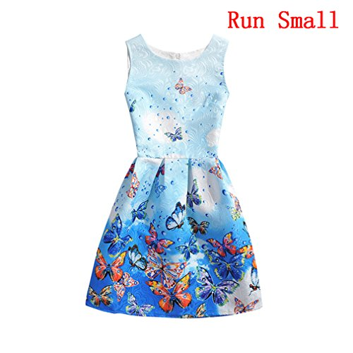 Girls 5 - 10 Years Flower Wedding Princess Butterfly Party Dress (140cm - 10 Years) (10 Year Old Girl Clothes compare prices)