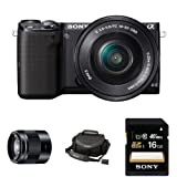 Sony NEX-5TL Compact Interchangeable Lens Digital Camera with 16-50mm and 50mm Power Zoom Lenses and Accessories