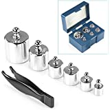 Neewer 205 Gram Precision Steel Balance Scale Calibration Weight Kit Set with Tweezers, Class M2 -Suitable for Digital Jewellery Scale, General Laboratory, Commercial, and Educational use