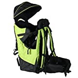 Deluxe Green Baby Back Pack Cross Country Carrier Child Kid Sun Shade Visor New