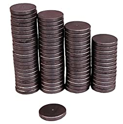 Creative Hobbies® Ceramic Industrial Magnets - 1 Inch (25mm) Round Disc - Ferrite Magnets Bulk for Crafts, Science & hobbies - 25 Piece Pack