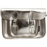 Zatchels Womens Metallic Satchel 11.5 Cross-Body Bag