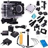 """Nero HD 1080P 1.5"""" LCD Panel Outdoor Action Camcorder Camera Fotocamera Videocamera + Custodia Copertura impermeabile..."""