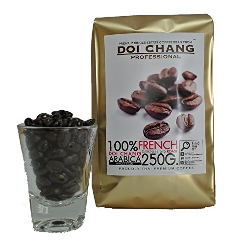 Arabica Coffee Doi Chang Professional French Roasts Dark 0.55 lbs (Pack of 4) (Gevalia Whole Bean Colombian compare prices)