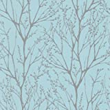I Love Wallpaper Shimmer Wallpaper Teal / Silver