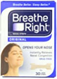 Breathe Right Nasal Strips, Large,tan, 30-count Boxes (Pack of 2)