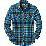 Legendary Whitetails Cabin Retreat Ladies Flannels Cobalt Large