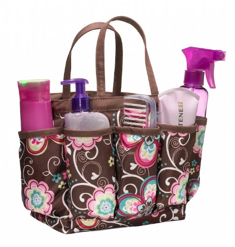 Three Cheers for Girls 48511 Bliss Brown Flower Shower Caddy