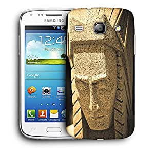 Snoogg White Abstract Face Designer Protective Back Case Cover For Samsung Galaxy Core