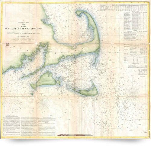 Vintage Cape Cod Map (1857) (Giclee Art Print), Alleycatshirts @Zazzle front-717904