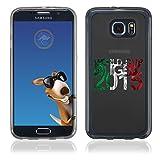 Coque Souple en gel pour Samsung Galaxy S6 Edge avec impression Italie et logo rugby WCR 2015...