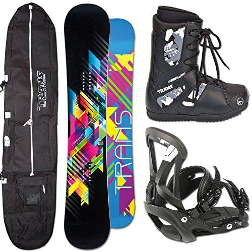 TRANS SNOWBOARD FE MAN BLACK ~ 159 CM WIDE + SONIC BINDUNG L + BAG + BOOTS