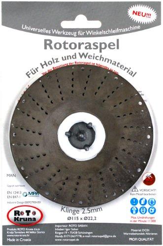 Rotoraspel-Klinge-25-Grob-Schleifscheibe-115x22mm-fr-HolzKunststoffGummi
