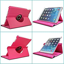 """TGKâ""""¢ 360 Degree Rotating Leather Smart Stand Case Cover for Apple iPad Air, Apple iPad 5, iPad Air 1 (Light Pink)"""