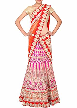 Lehenga Indian Pakistani Bollywood Replica XXX-Large Pink: Clothing