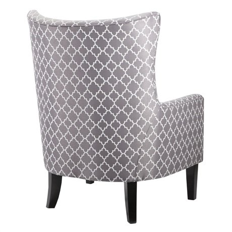 Carissa Shelter Wing Chair Grey
