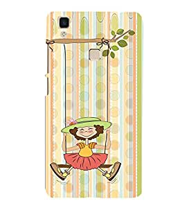 Girl Swing Design 3D Hard Polycarbonate Designer Back Case Cover for VIVO V3 MAX
