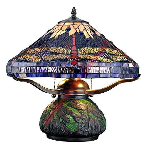 tiffany lamps on sale table lighting dragonfly lights style glass mosaic base po44tkh435 h25w3337479