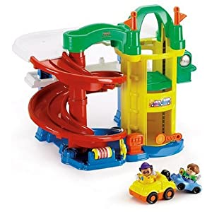 fisher price world of little people racin 39 ramps garage uk best toys. Black Bedroom Furniture Sets. Home Design Ideas