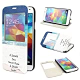 TUTUWEN View Window Painting Art Design PU leather Flip Cover Case for Samsung Galaxy S5 SV