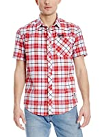 Varsity Team Players Camisa Hombre Check (Rojo / Blanco)