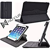 Rotating Flip Cover Case W/Adjustable Stand Apple I Pad Mini Wi Fi [Carbon Black] Nu Vur |Mu08 Ark2|