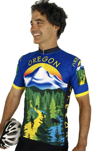 Buy Low Price Oregon Short Sleeve Cycling Jersey (B008VMVGN4)