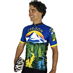 Oregon Short Sleeve Cycling Jersey by Free Spirit