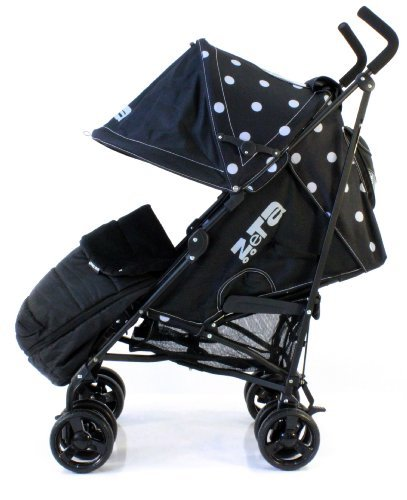 zeta-vooom-black-dots-with-rain-cover-deluxe-2in1-footmuff-liner-zip-off-padded-black