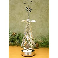 Spinning Christmas Tree Candle Holder Scandinavian Style