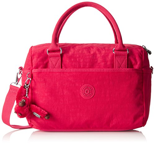 Kipling Beonica Women's Top-Handle Bag, (B x H x T) 36 x 24 x 16.5 cm - Red/Flamboyant Pink G46