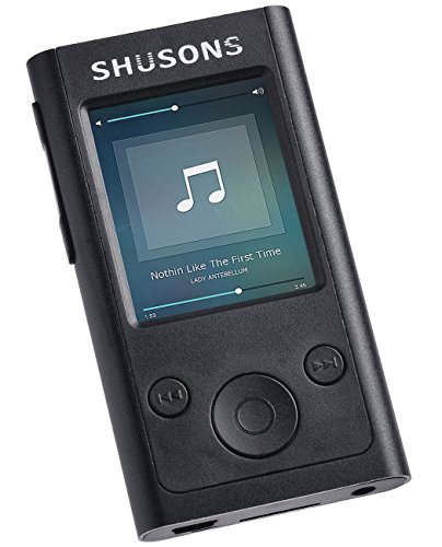 SHUSONS 1.6インチ タッチパネル / 音楽 ・ 動画再生 / FM ラジオ / ポータブルプレーヤー HIFI 高音質 音楽再生 ロスレスサウンド MP3 プレーヤー (容量8GB)(ブラック )