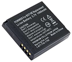 STK's Panasonic DMW-BCF10PP Battery - high mAh for Panasonic DMW-BCF10PP, DMW-BCF10 Batteries, and Lumix DMC-TS4, DM-TS3, DMC-FH20, DMC-TS2, DMC-FS15, DMC-TS1, DMC-FT3, DMC-FH22, DMC-FS7, DMC-FT4, DMC-FH3, DMC-FP8, DMC-FT1, DMC-FX700, DMC-F2, DMC-F3, DMC-