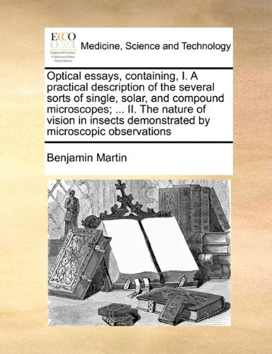 Optical Essays, Containing, I. A Practical Description Of The Several Sorts Of Single, Solar, And Compound Microscopes; ... Ii. The Nature Of Vision In Insects Demonstrated By Microscopic Observations