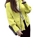 【Wild Cats】 レディース アウター コート ジャケット 上着 あったか ニット 長袖 ゆったり 春 秋 冬 xl 大きいサイズ トップス ファッション カジュアル おしゃれ 安い エコバッグ付き