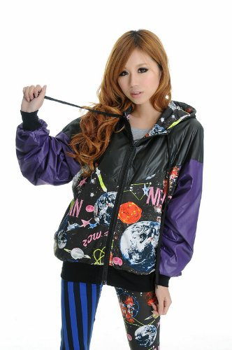 Blooms - Fashion Hoodies Outer Space Jacket One
