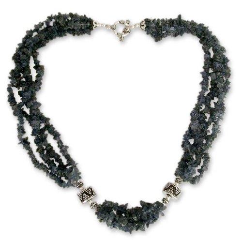 Iolite torsade necklace, 'Calcutta Nights'