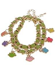 Voaka Fashion Green Metal Base Bracelet For Women - B00PAY1MSA