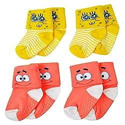 Nickelodeon Sponge Bob Square Pants Baby Socks 4-pairs (18-24 Months)