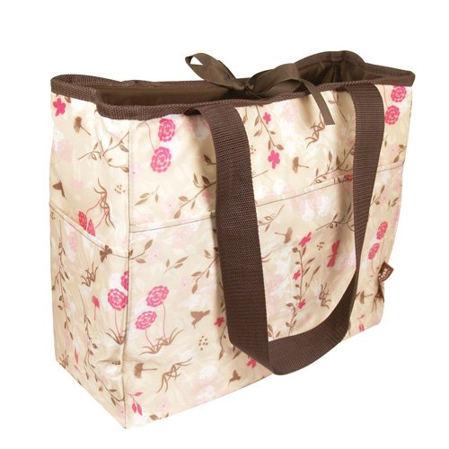 Bumkins Waterproof BPA Free Reversible Diaper Bag - Flutter Floral